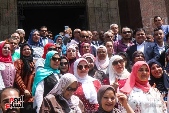 قيادات وأعضاء حزب الوفد من مختلف المحافظات فى زيارة لضريح سعد زغلول (21)
