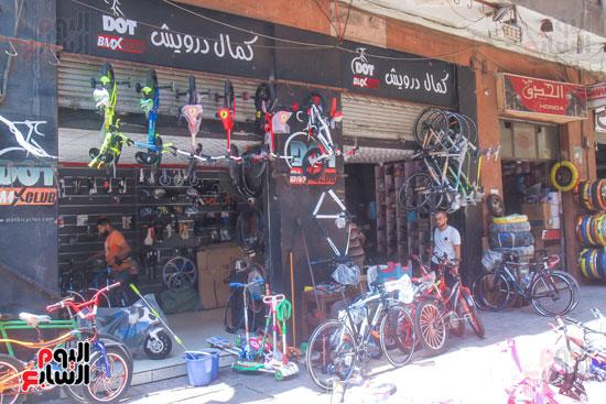 محلات بيع الدراجات بوسط البلد