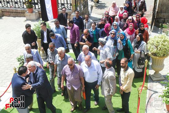 قيادات وأعضاء حزب الوفد من مختلف المحافظات فى زيارة لضريح سعد زغلول (19)