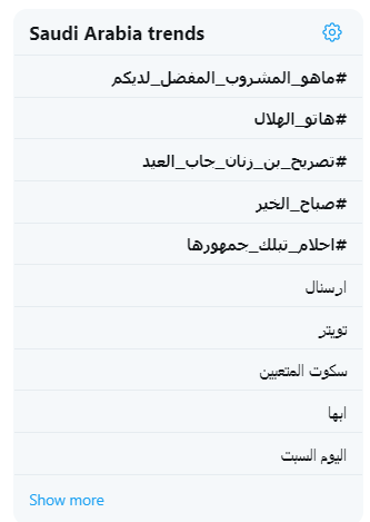 قائمة تويتر فى السعودية