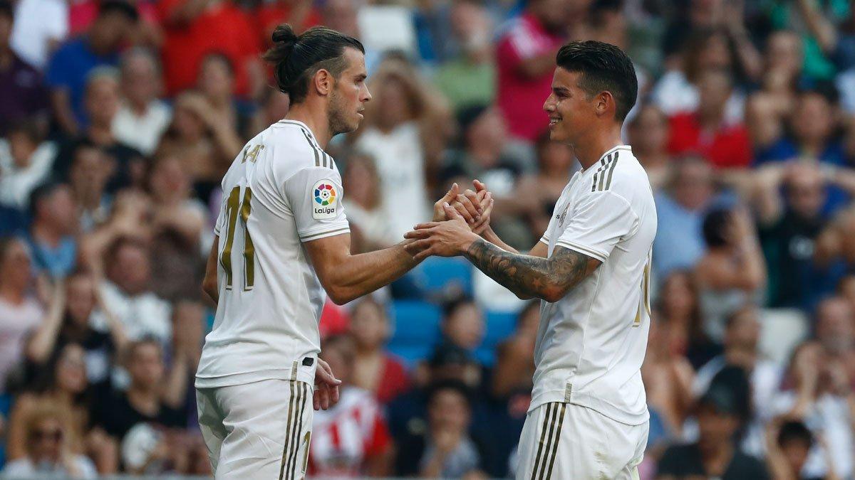 جيمس رودريجيز وجاريث بيل ثنائي ريال مدريد