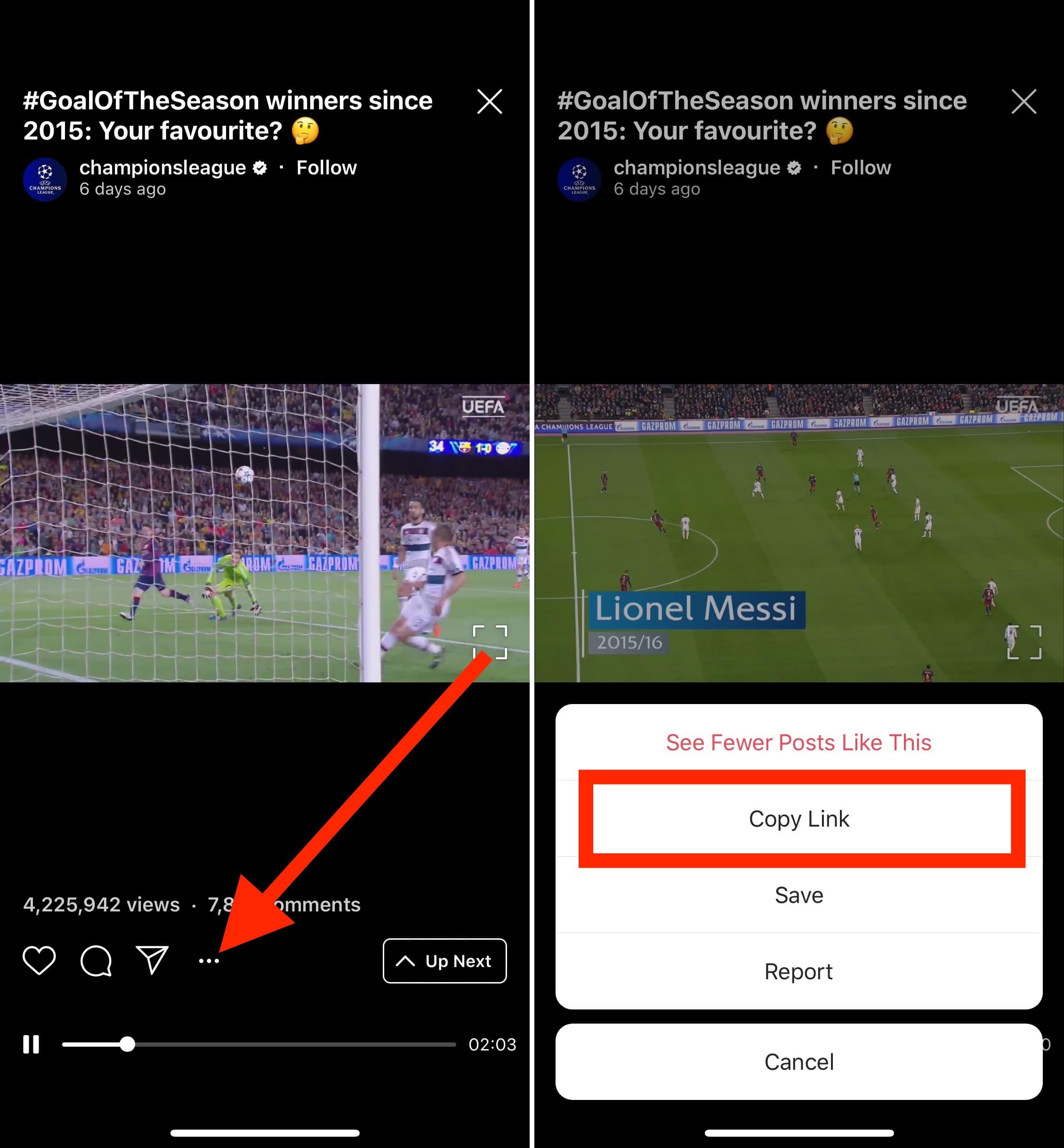 Select-IGTV-video