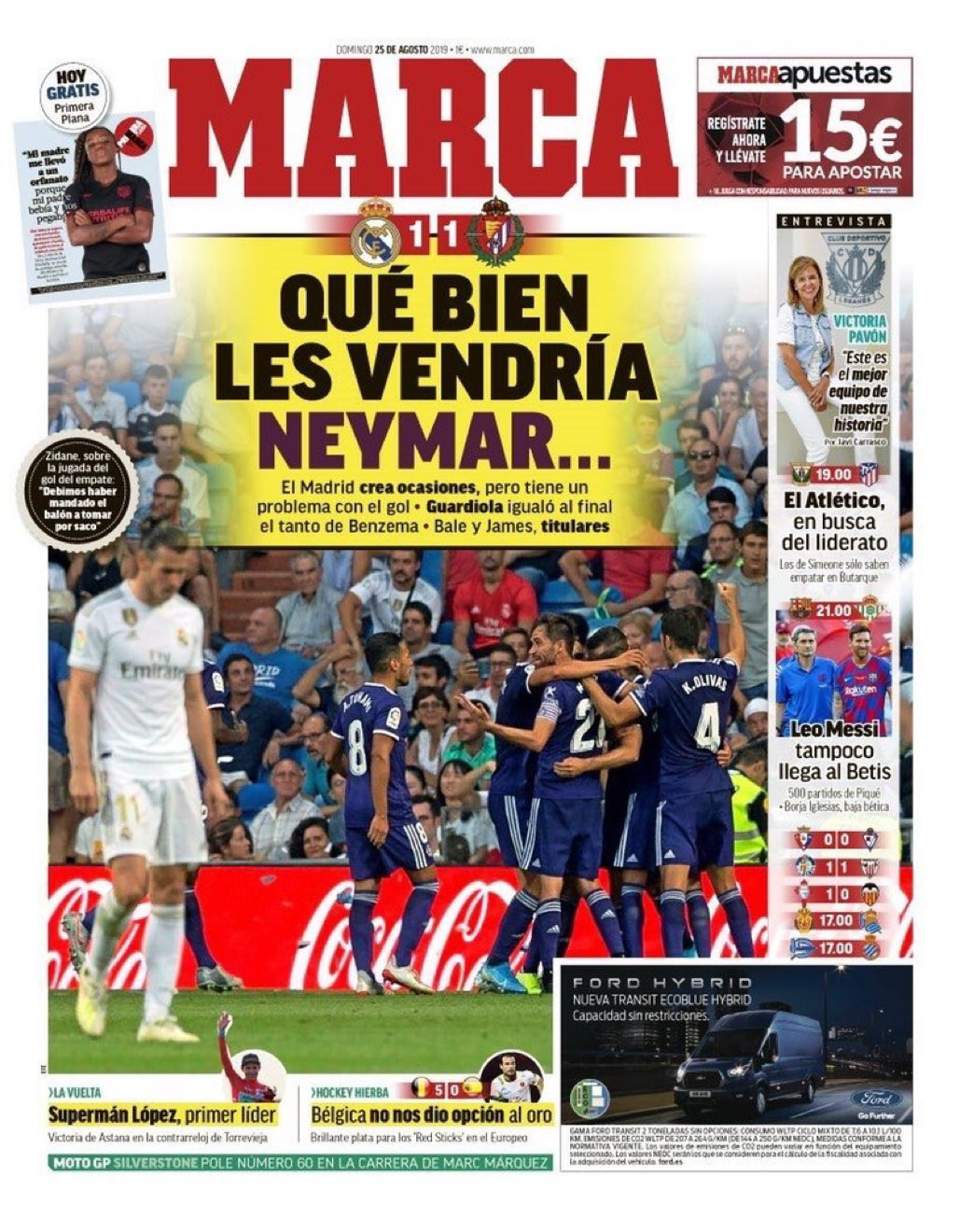 غلاف صحيفة ماركا الاسبانية