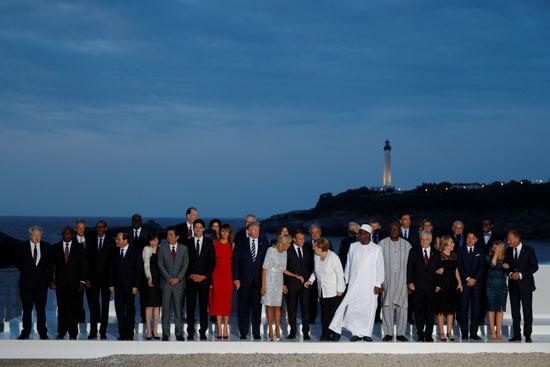 الرئيس المصرى يشارك فى الصورة التذكارية لقادة مجموعة السبع