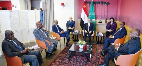 السيسى يستضيف رؤساء رواندا والسنغال وجنوب افريقيا (4)