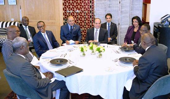 السيسى يستضيف رؤساء رواندا والسنغال وجنوب افريقيا (5)