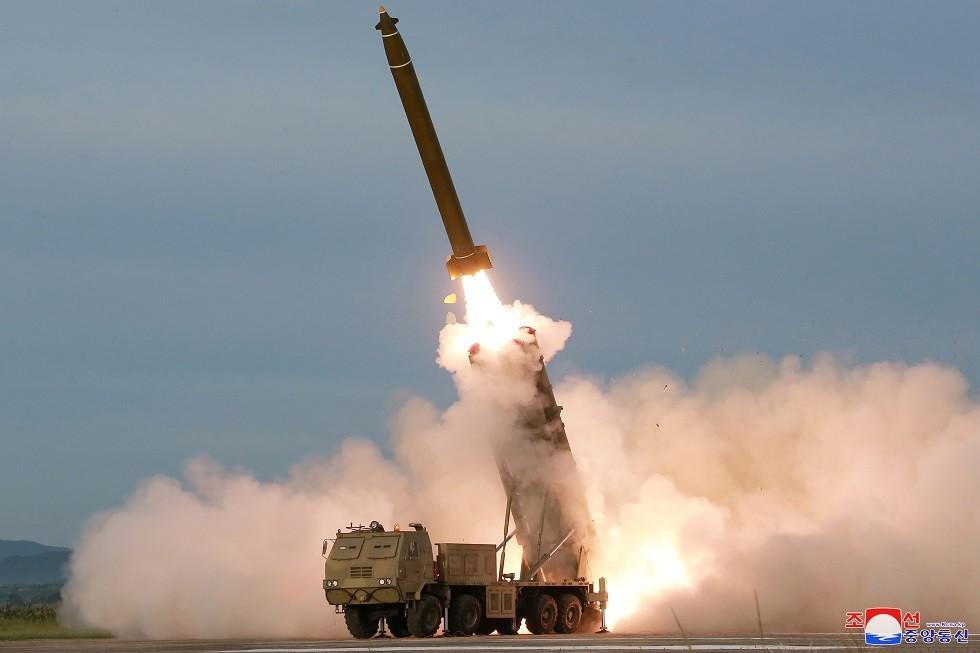 اطلاق الصاروخ من المنصة الجديدة