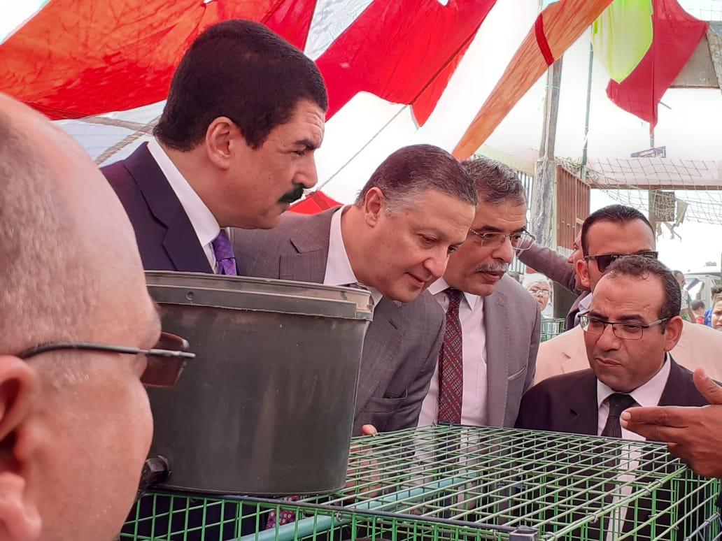 محافظ القليوبية ورئيس جامعة بنها يتفقدان مشروع تطوير قرية كفر فرسيس (4)