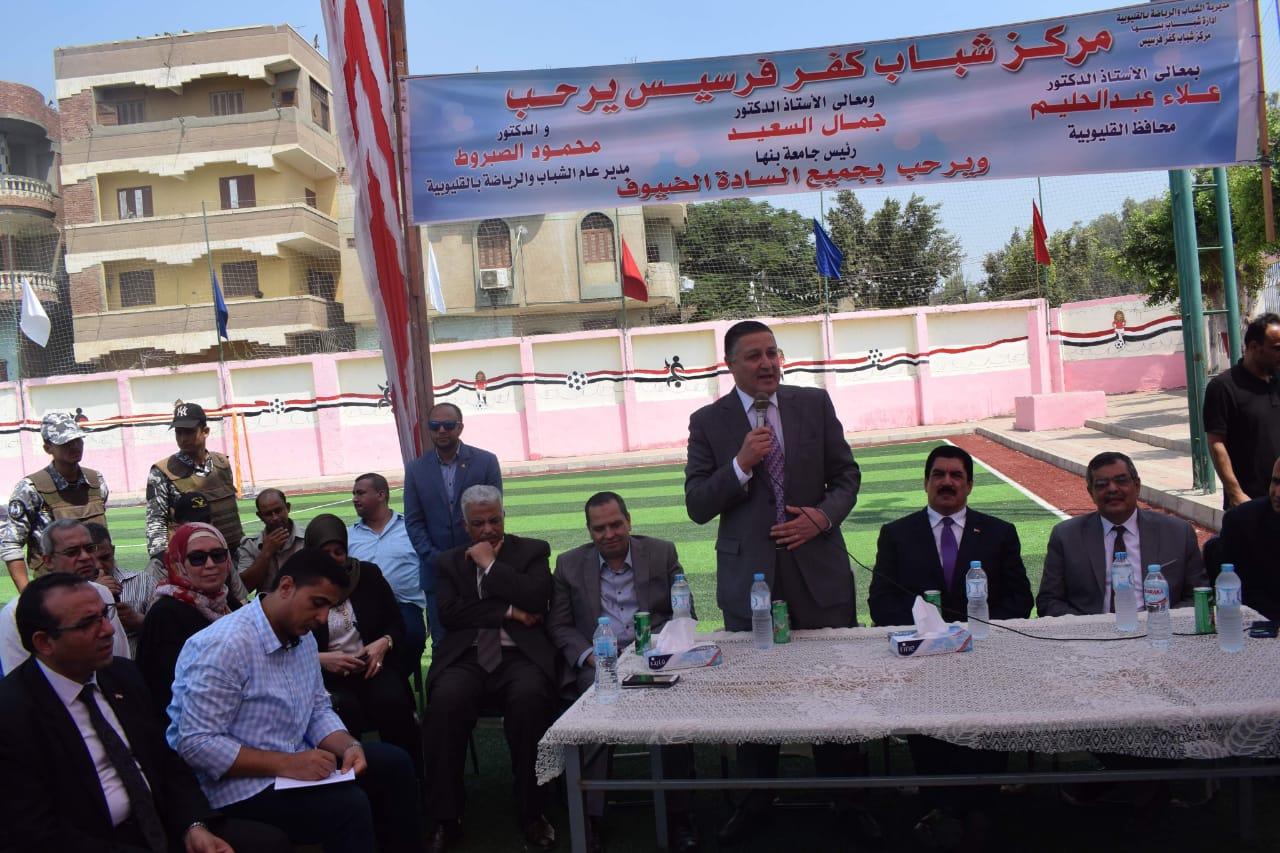 محافظ القليوبية ورئيس جامعة بنها يتفقدان مشروع تطوير قرية كفر فرسيس (1)