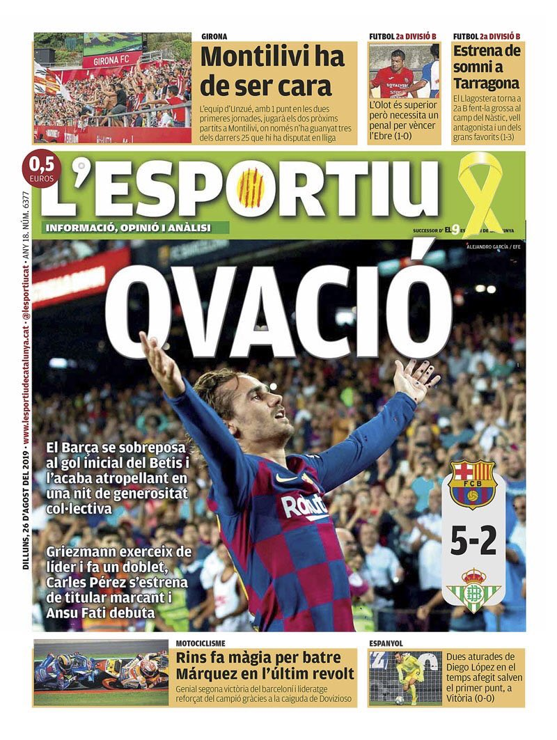 غلاف صحيفة  ليسبورتيو