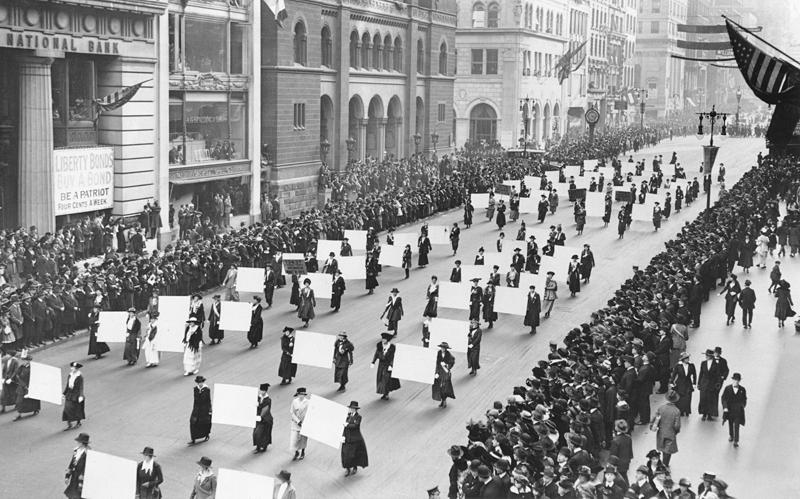 مظاهرات نسائية في أمريكا 1917