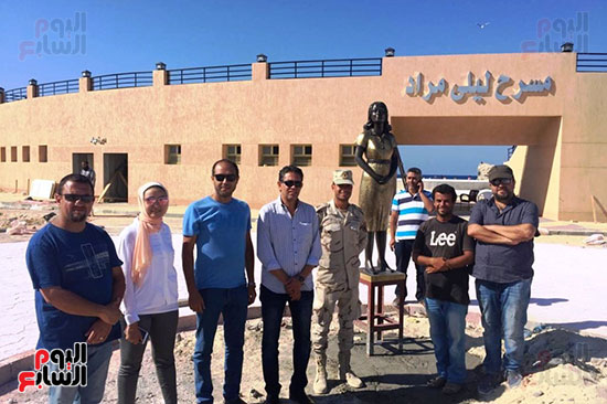 تمثال-ليلي-مراد-بشاطئ-الغرام-في-مطروح-(4)