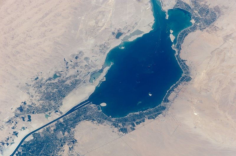 صورة جوية للبحيرة المرة الكبرى بالإسماعيلية (3)