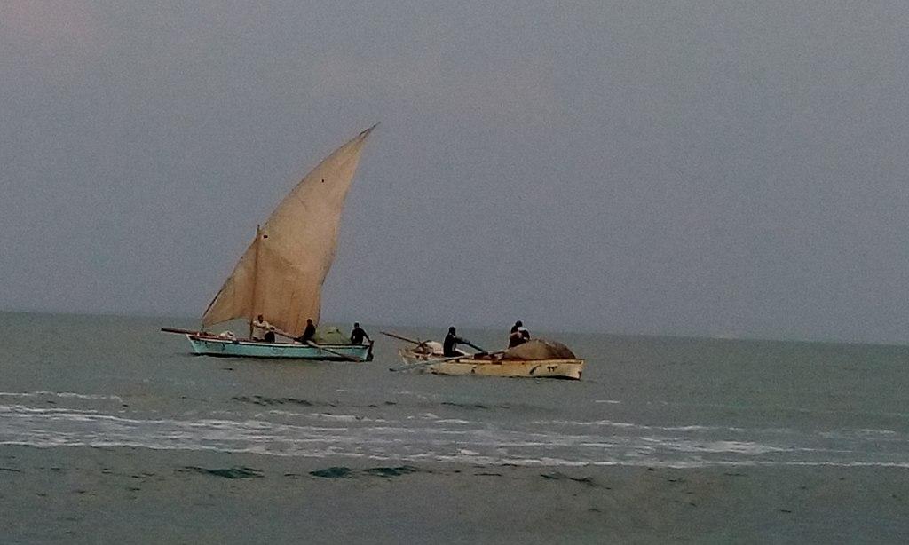 قوارب في البحيرات المرة