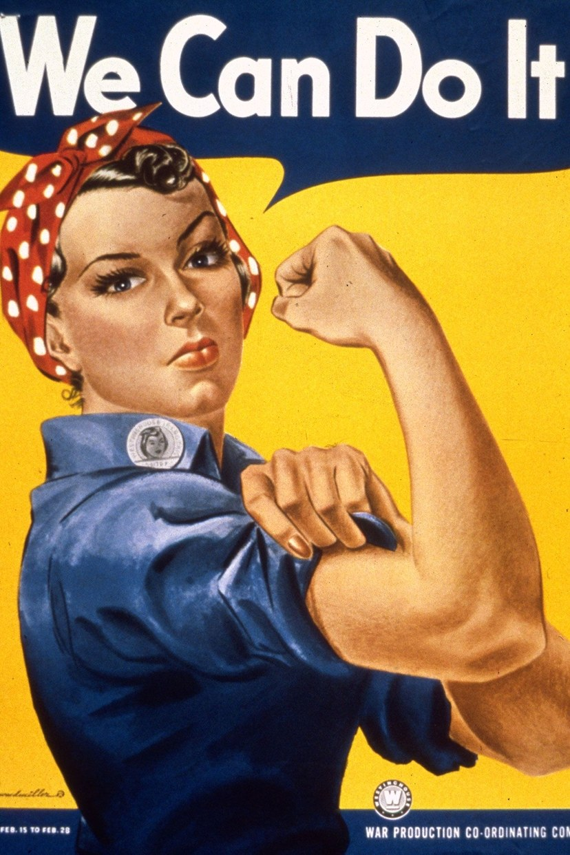 روزي في ملصق We Can Do It! منذ عام 1942.