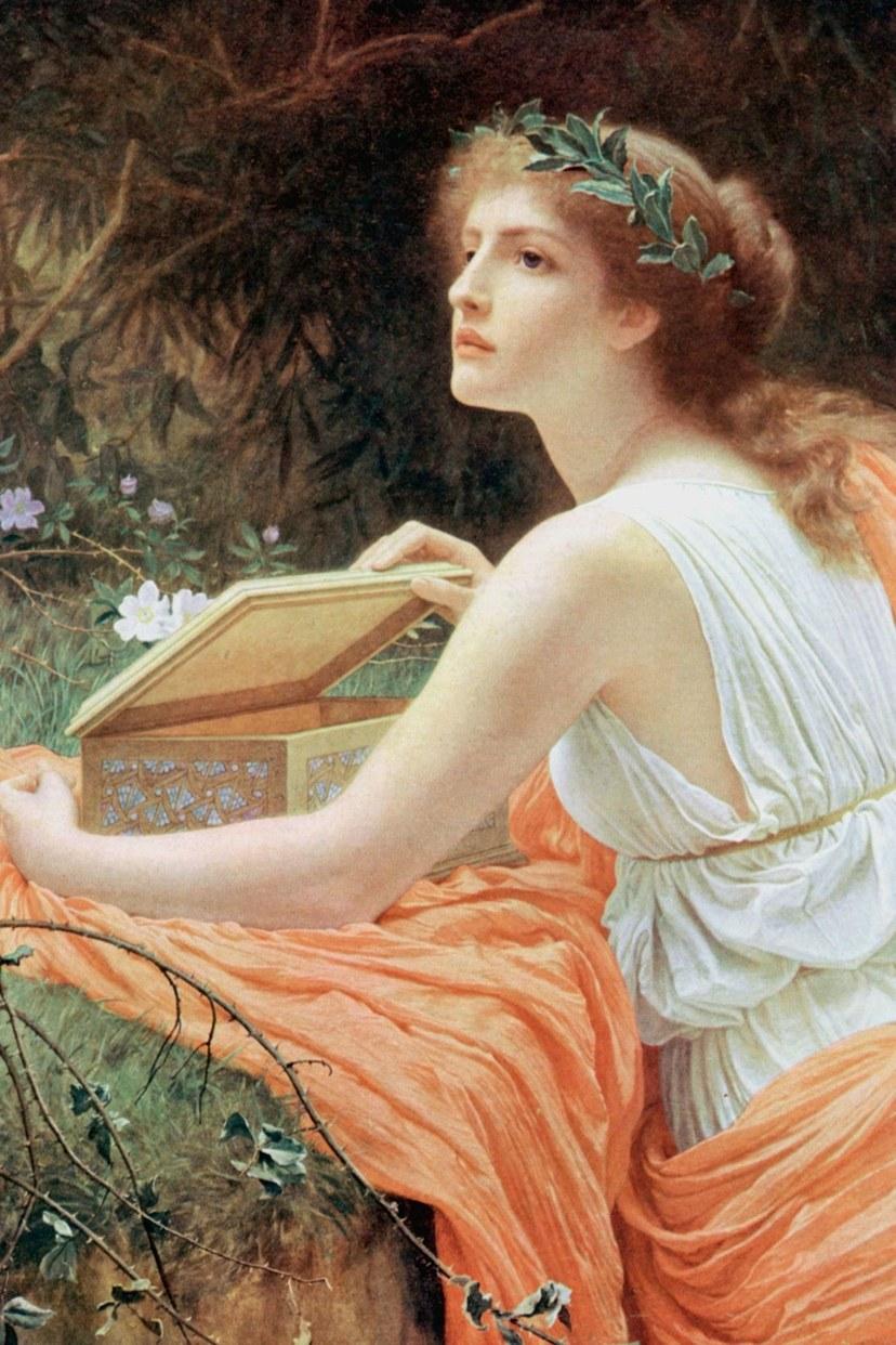 باندورا ، أول امرأة قاتلة في الأساطير اليونانية في عام 1753.