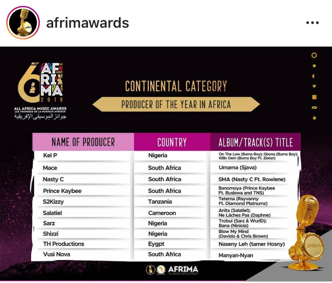 جوائز الموسيقى الافريقية