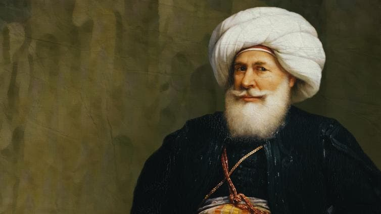 A picture of the ruler of Egypt, Mohamed Ali Pasha