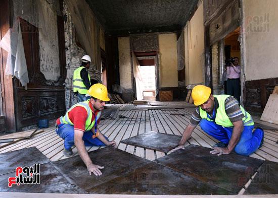أعمال ترميم قصر البارون (5)