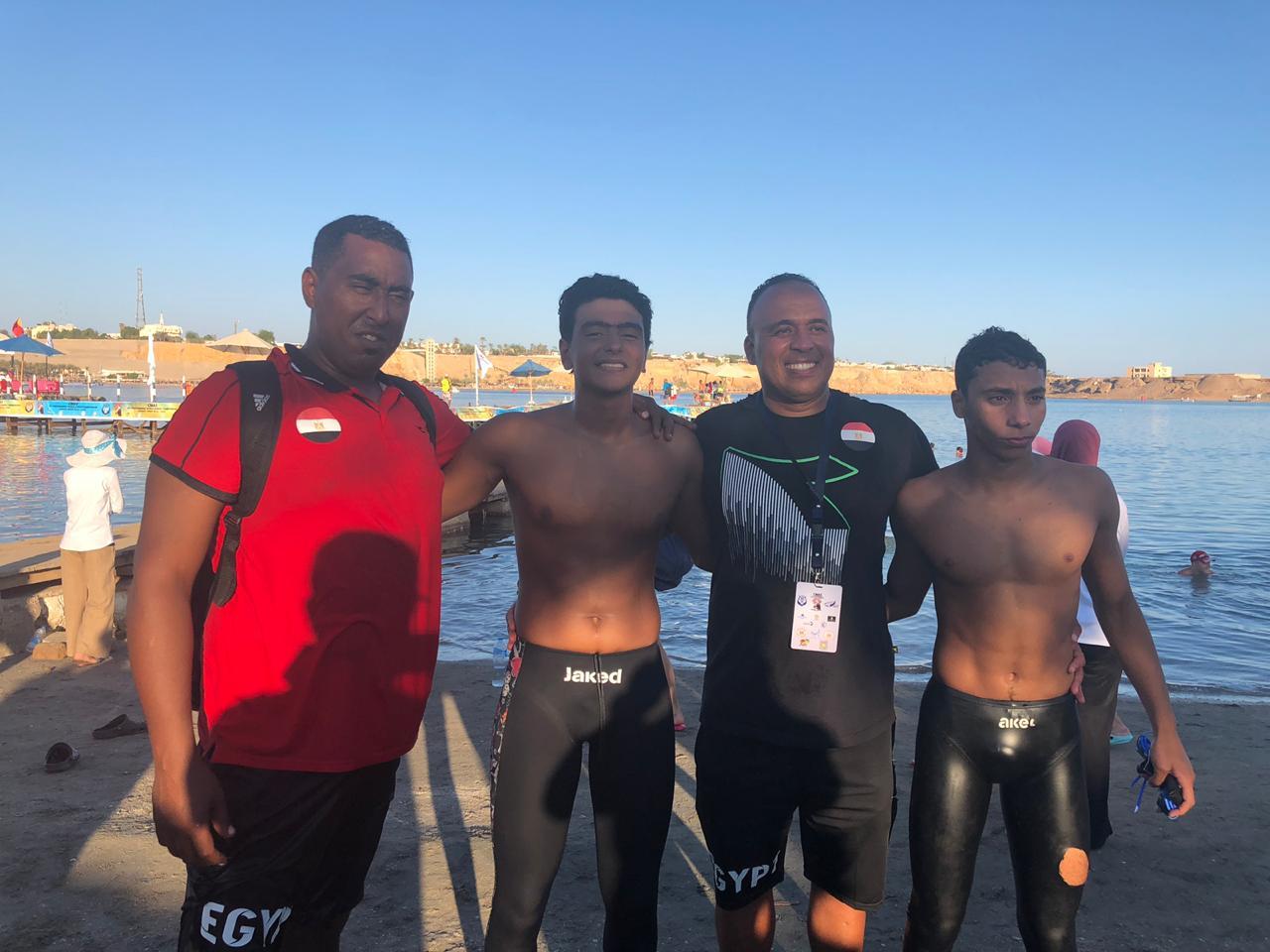المنتخب الوطنى للسباحة بالزعانف (1)