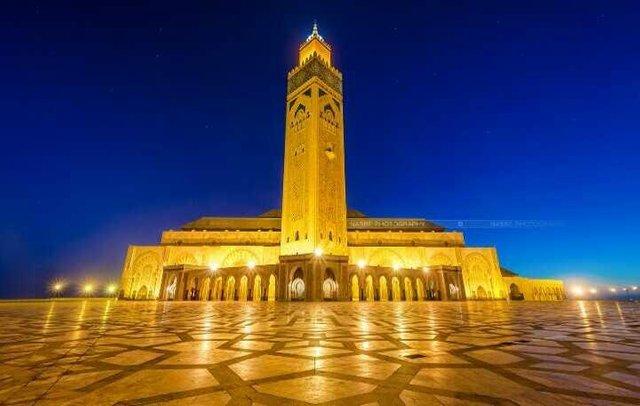مسجد الحسن الثانى فى المغرب