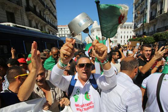جانب من الاحتجاجات فى الجزائر