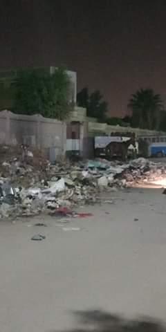 القمامة تحاصر مدرسة الرافعي بشبرا الخيمة (2)