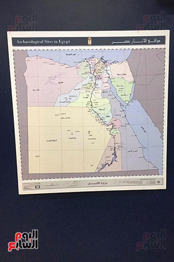 خريطة-لمواقع-الآثار-فى-مصر