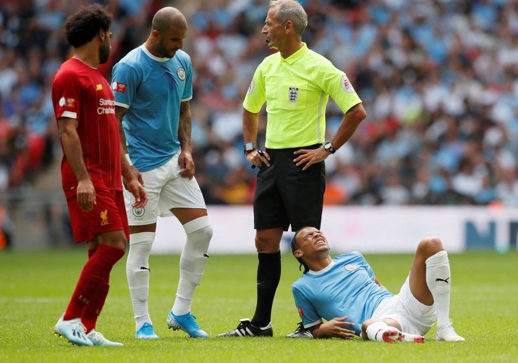 إصابة ساني في قمة ليفربول ضد مان سيتي