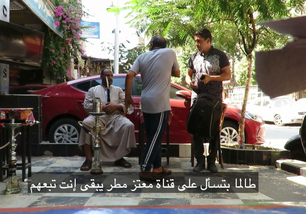 محرر اليوم السابع في إحدى القهاوي (1)