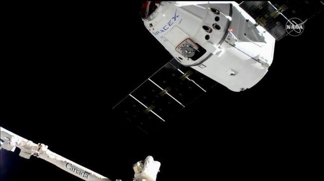وصول الصاروخ لمحطة الفضاء الدولية