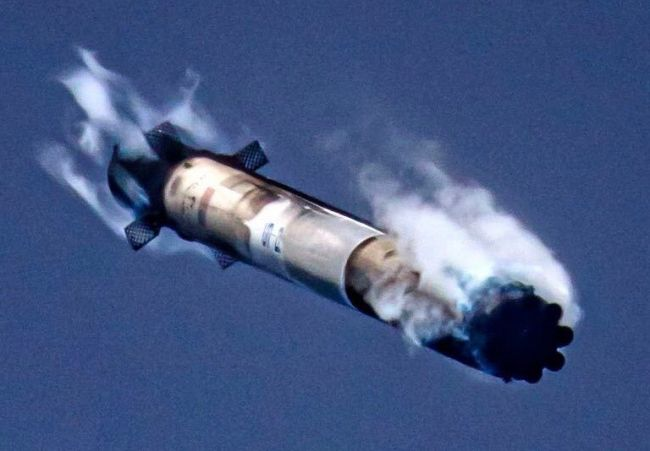 A distinctive image of the reused rocket