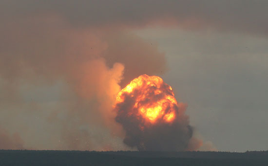 كورة ضخمة من النيران