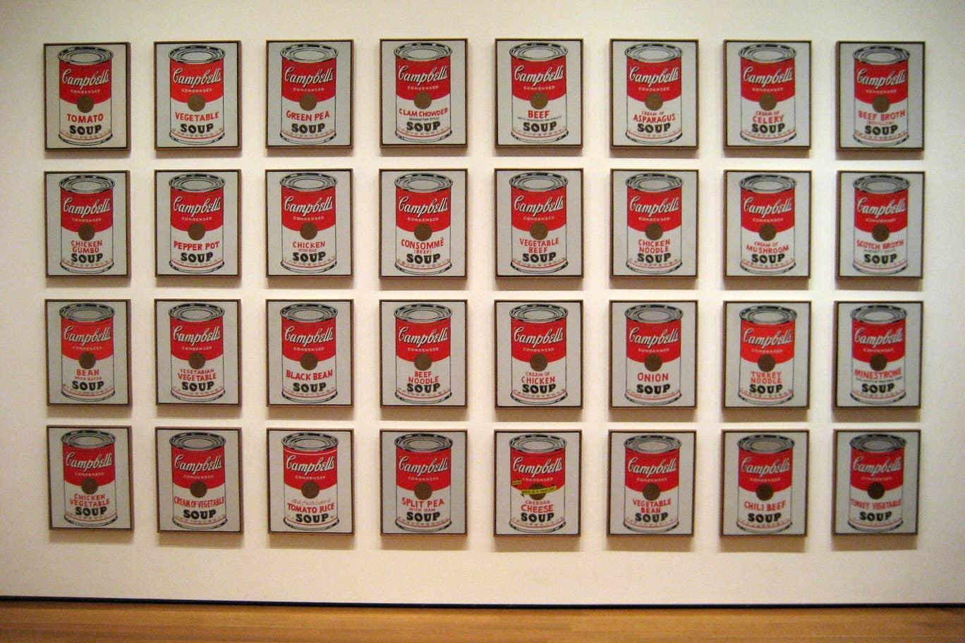 لوحة علب حساء كامبل