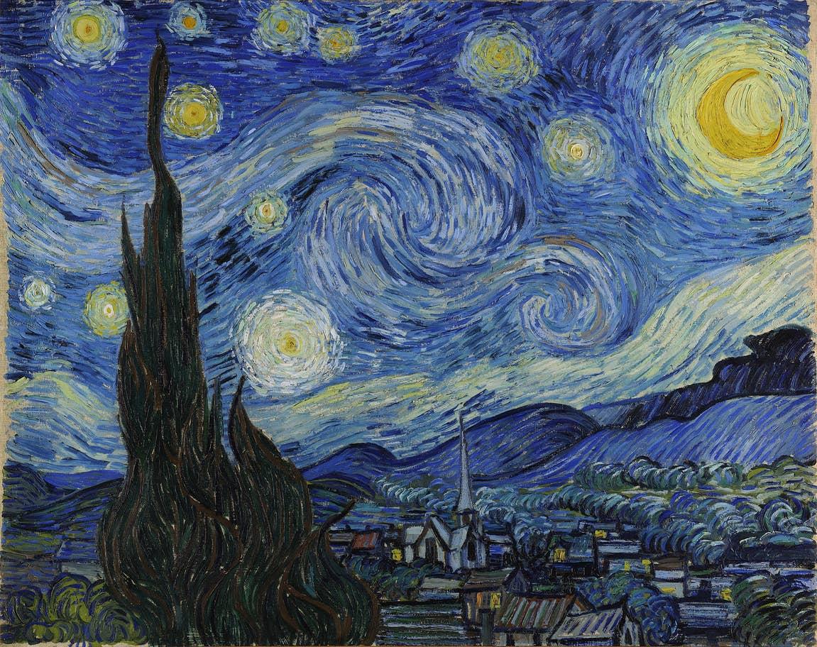لوحة ليلة النجوم