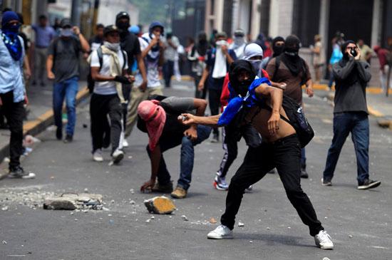 تظاهرات فى هندوراس (2)