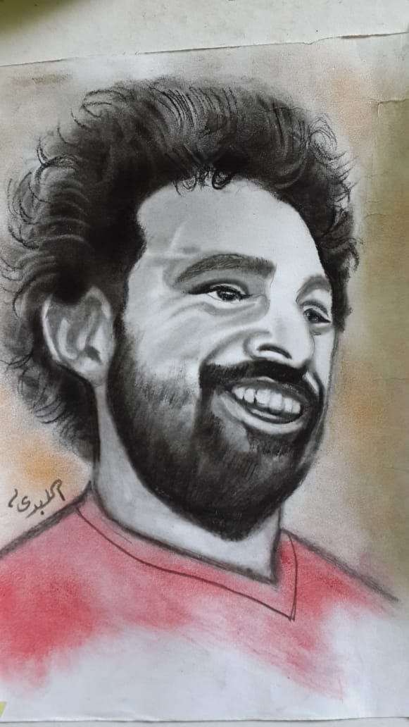 رسم محمد صلاح