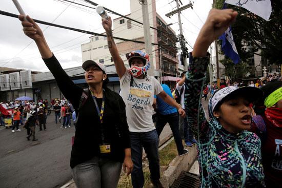 تظاهرات فى هندوراس (5)