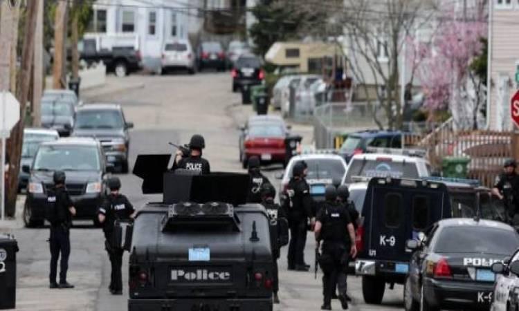 انتشار الشرطة الأمريكية عقب حادث اطلاق نار
