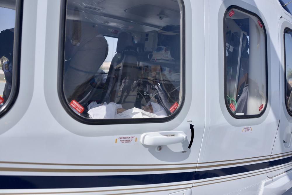 الطائرة المجهزة لنقل الحجاج المنومين