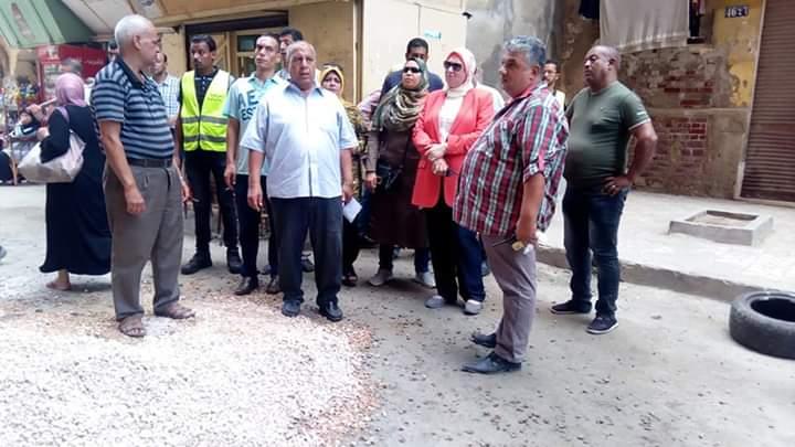التصدي لبناء مخالف بحى جمرك الاسكندرية  (1)