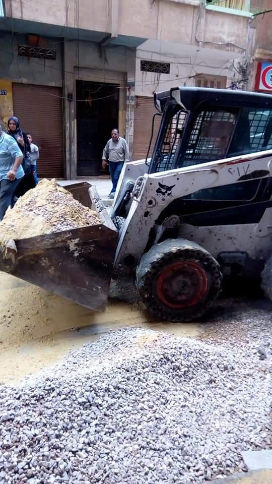 التصدي لبناء مخالف بحى جمرك الاسكندرية  (2)