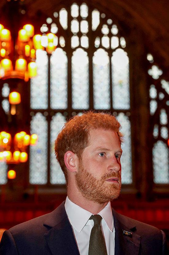 الأمير هارى خلال مشاركته فى الاحتفالية