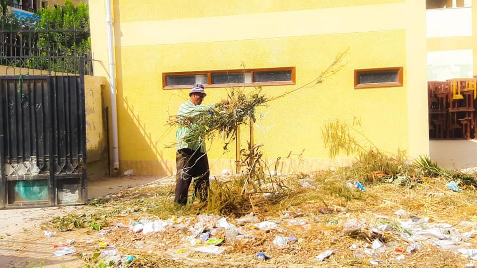 جانب من حملة النظافة بنطاق مدارس المنصورة (13)