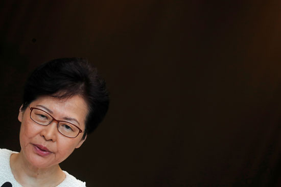 زعيمة هونج كونج كارى لام