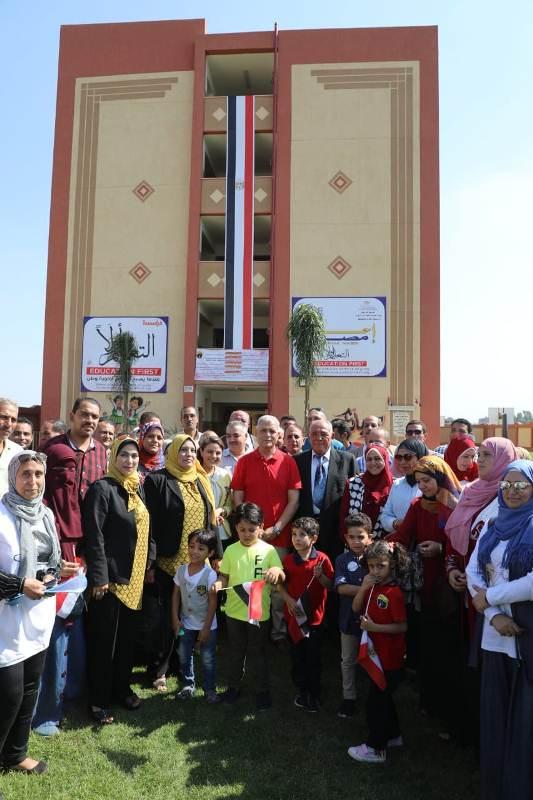 افتتاح مدرستين بالمنوفية (2)