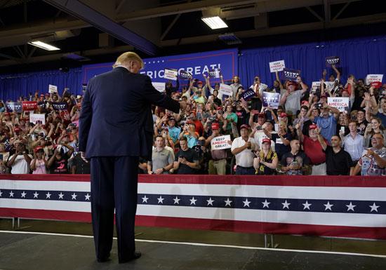 ترامب يتحدث إلى مريديه