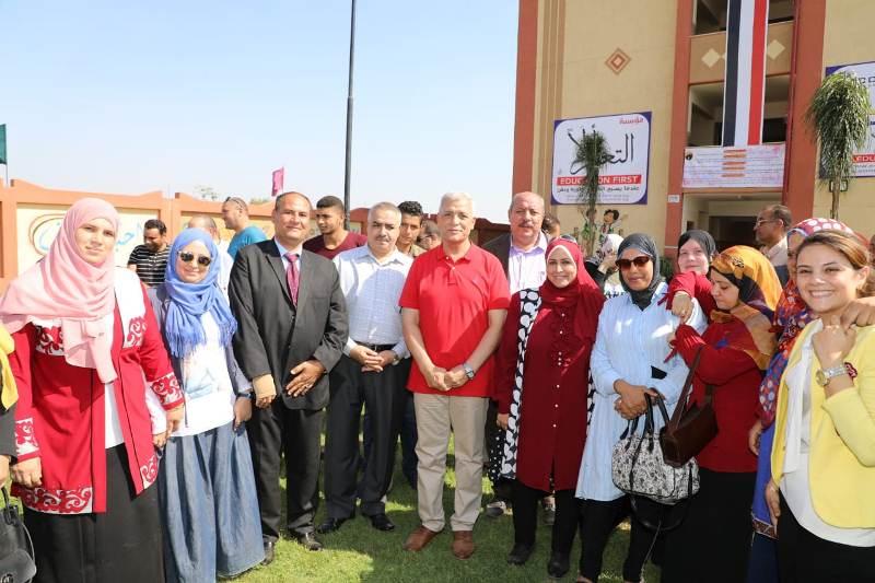 افتتاح مدرستين بالمنوفية (1)