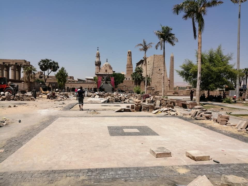 رئيس مدينة الأقصر يعلن تفاصيل تطوير ميدان أبوالحجاج الأقصري (1)