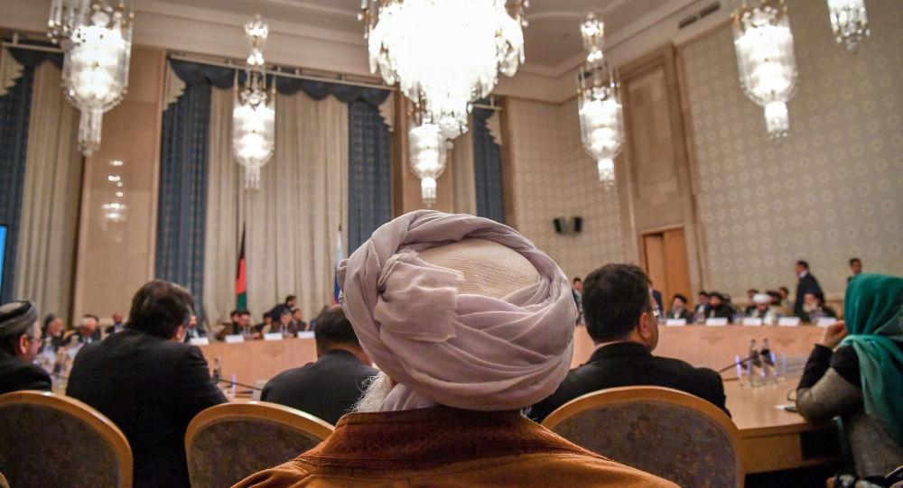 جانب من المفاوضات الأمريكية مع طالبان